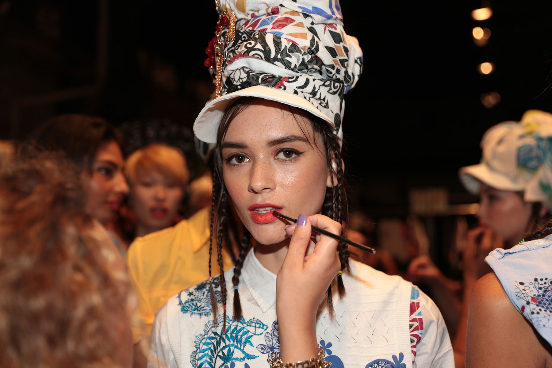 BACKSTAGE AT DESIGUAL S/S 2016 #NYFW