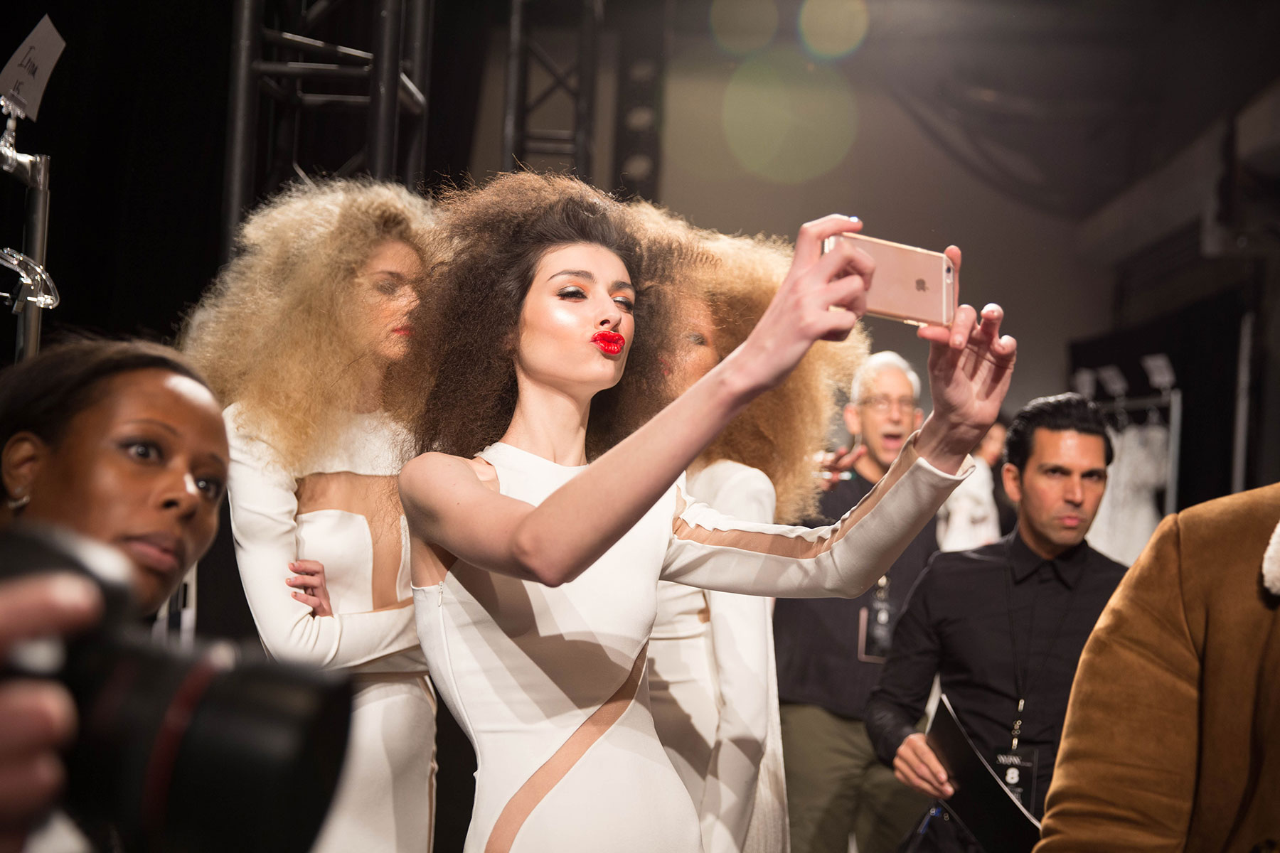 BACKSTAGE MICHAEL COSTELLO FALL WINTER 2017 NYFW