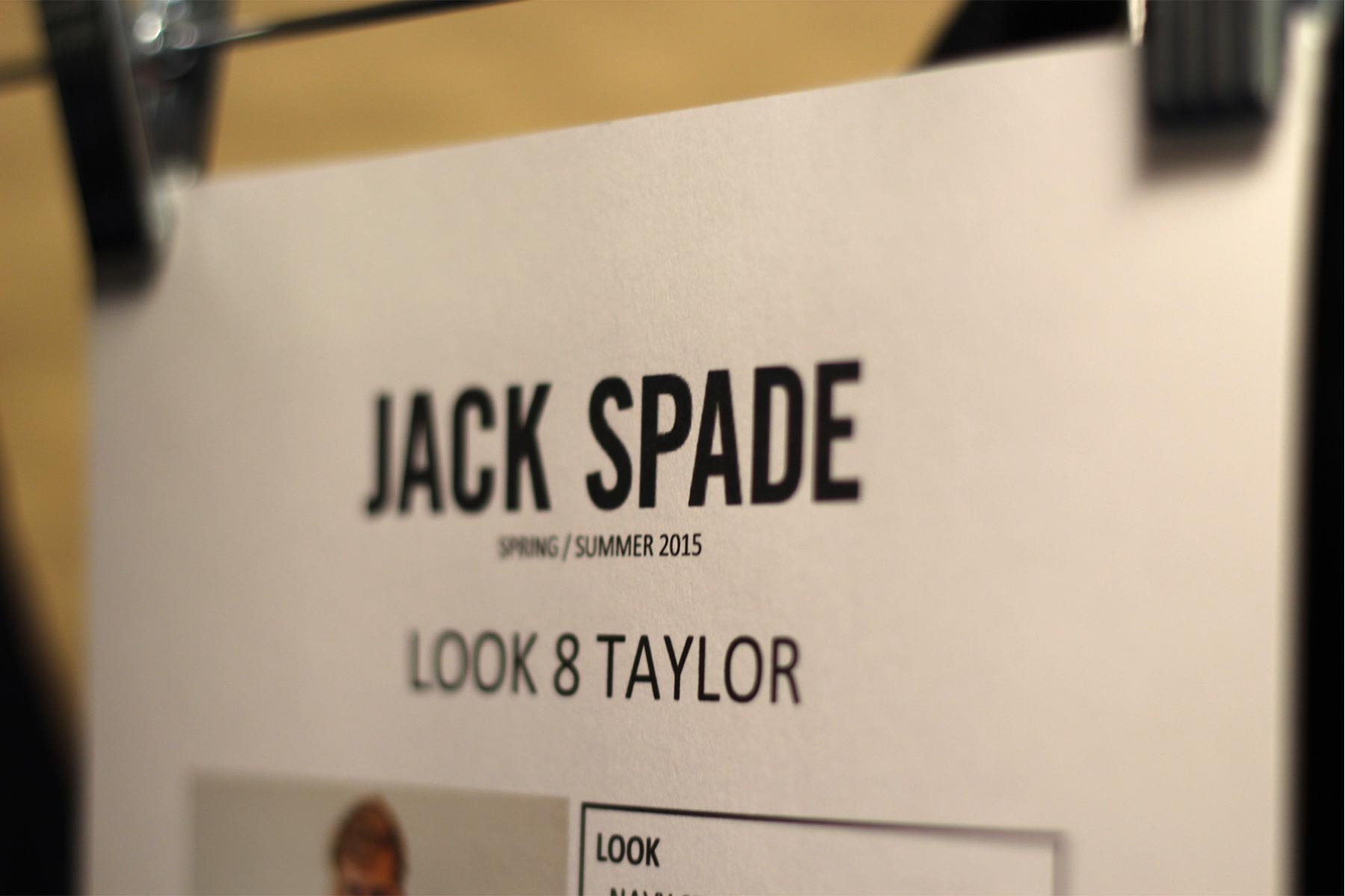 JACK SPADE S/S 2015 New York Fashion Week